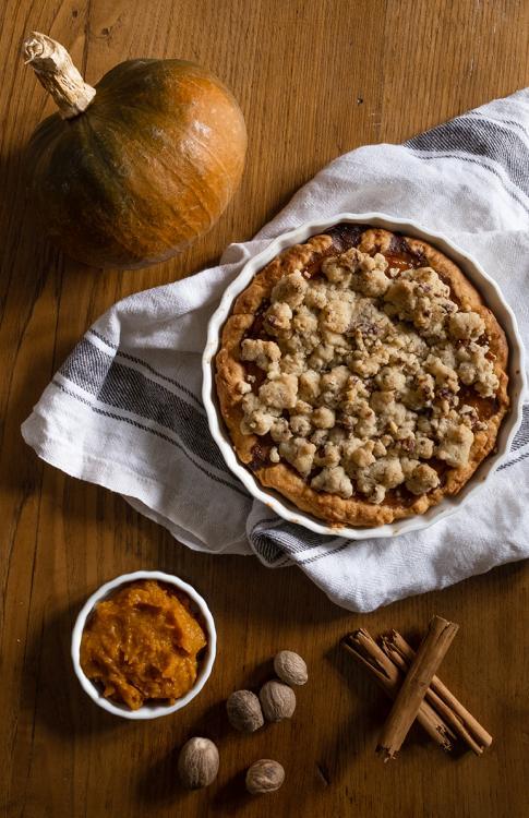 Pie di zucca e noci