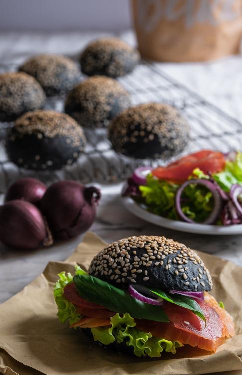 Panini per Hamburger al carbone vegetale