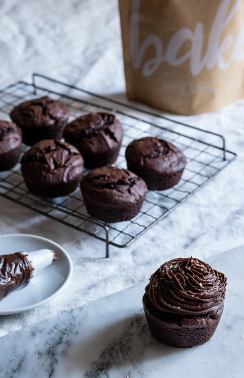 Cupcake al cioccolato fondente