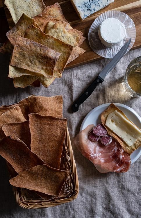 Sfogliate di pane con cruschello