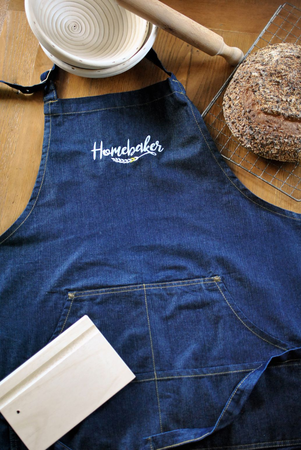 Grembiule Homebaker in Denim  Jeans, donna